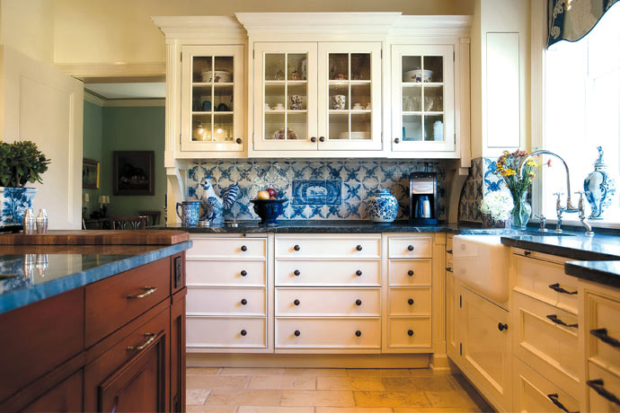 Designer Kitchen and Custom Cabinetry by Joan Picone, Designer. The project site is in Short Hills, NJ.